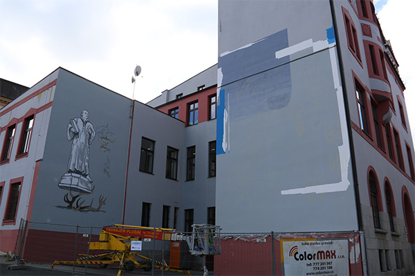 "Projekt ""wir2-my2 Fassadengestaltung in Aš des Künstzlers Johann Listenek"