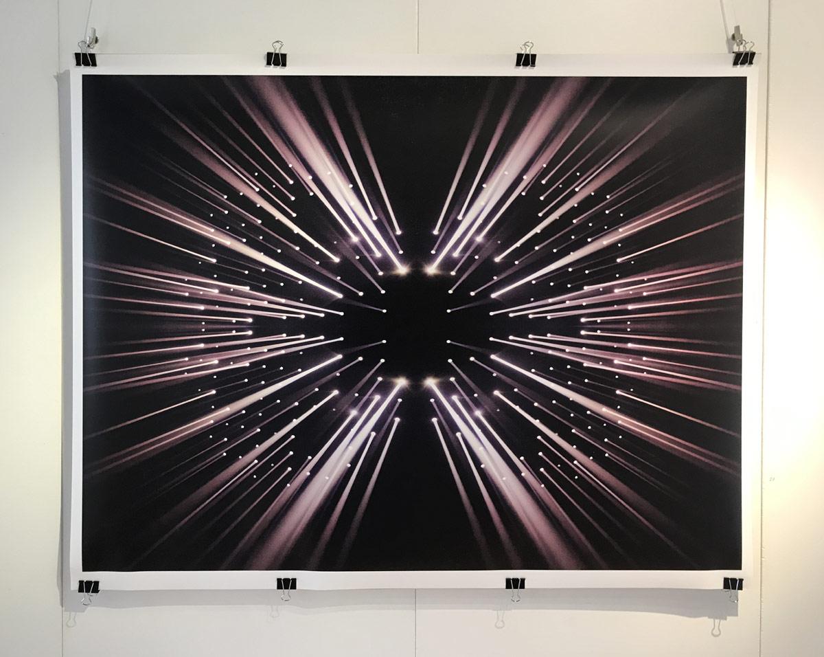 Werk von Hořínek -digitale Fotografie - aus der Serie Luminographie - 2019- 88 x 114 cm