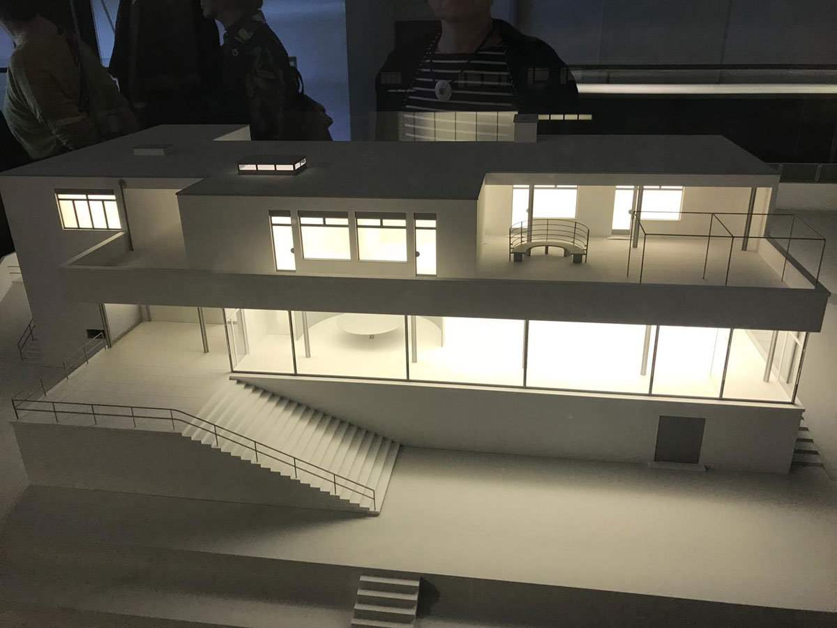 Model der Bauhaus Villa Tugendhat in Brünn