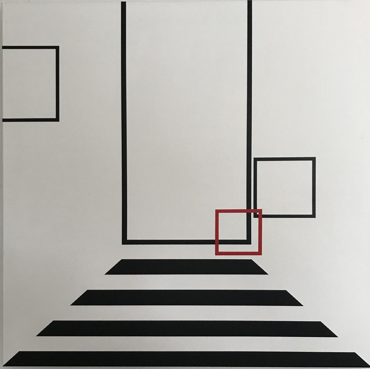 Ina von Jan Konkrete Kunst PHASE I Acrylbilder - Acryl auf Leinwand aus dem Jahr 2000, 80x80 cm