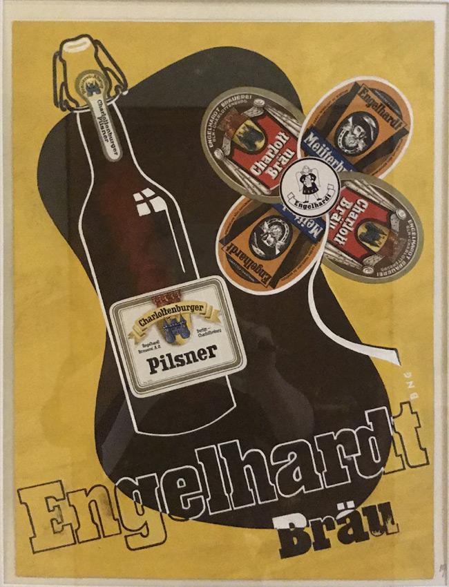 """Werbeplakat von Cavon 1936 Titel """"Langbräu"""""""