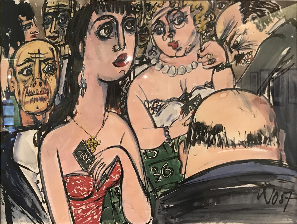 Werk von Cavon ohne Titel 1957, Gouache