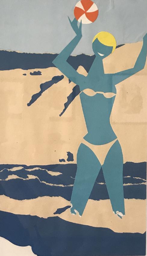 Werk von Cavon ohne Titel um 1960 Collage