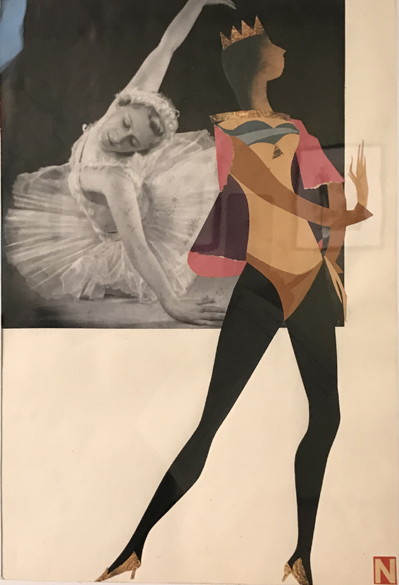 Werk von Cavon ohne Titel um 1960, Collage