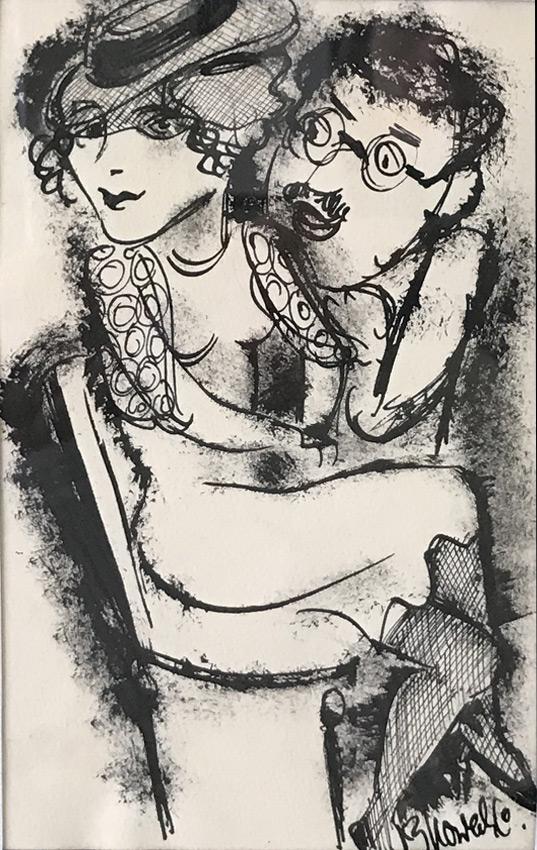Werk von Cavon ohne Titel 1933, Tusche