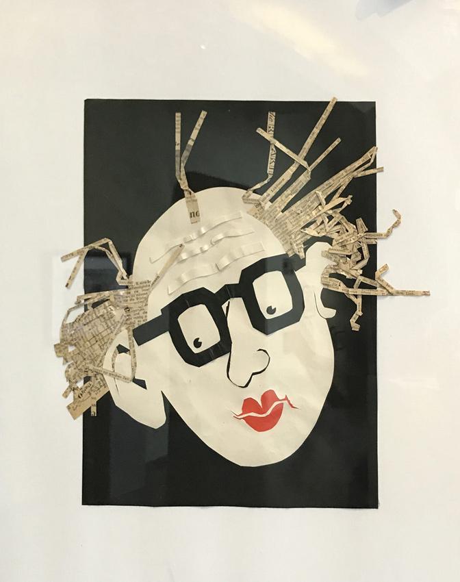 Selbstportrait CAVON um 1960_Collage