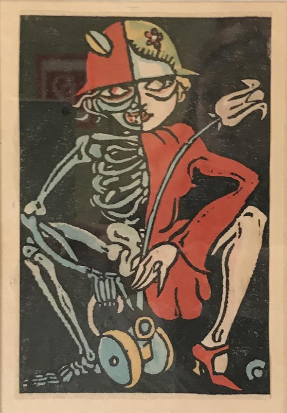"""Werk von Cavon um 1932 Titel """"Dame Politik"""""""