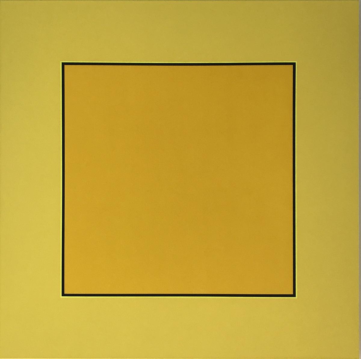 Werk von Ina von Jan konkrete Kunst Phase II Die Kraft der Farbe Gelb