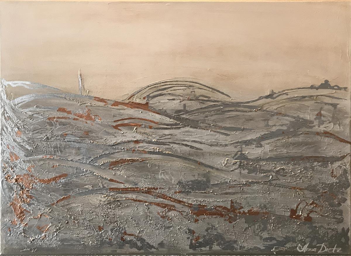 """Werk von Anna Dietz - Titel """"Fichtelgebirge"""" - Technik: Acryl - Größe: 60 x 80 cm"""