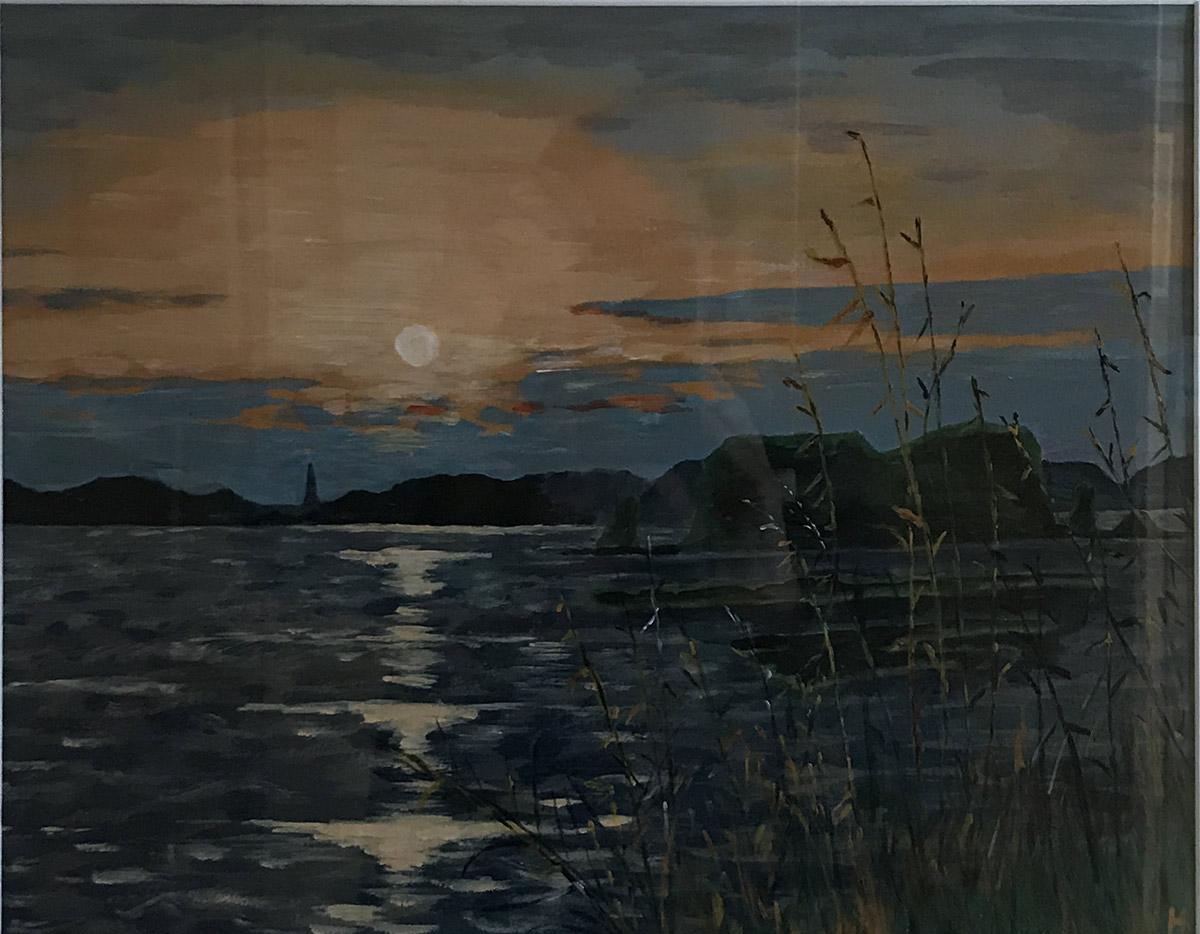 """Werk von Dr. Horst Zeitler - Titel """"Sonnenuntergang Ahrenshoop"""" - Technik. Acryl"""