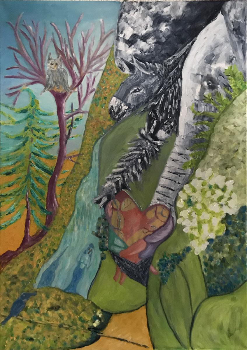 """Werk von Katrin Horn - Titel: """"Aufschrei der Natur"""" - Technik: Öl auf Leinwand"""