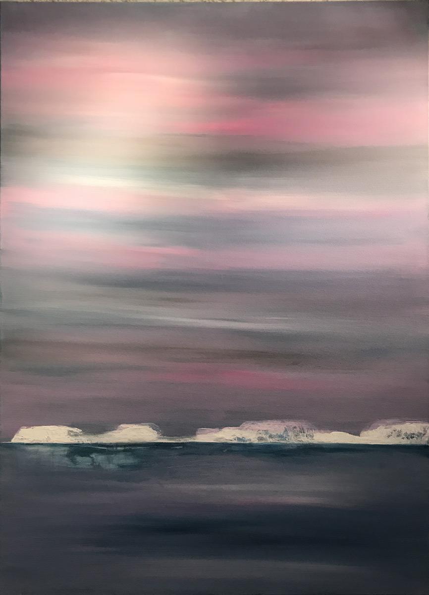 "Werk von Sonja Grünbaum - Titel: ""Sundown"" - Technik: Acryl auf Leinwand"