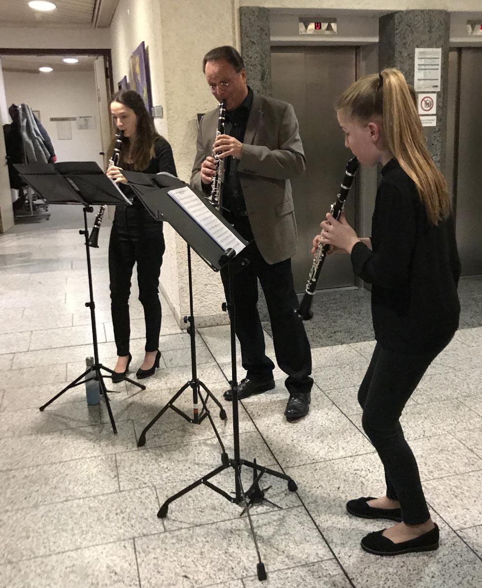 Musikalische Untermalung durch die Musikschule Marktredwitz mit Schulleiter Erwin Jahreis