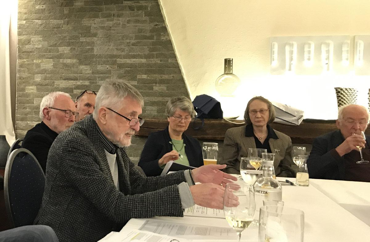 Referent: Dr. Dieter Rossmeissel auf der Jahres-Hauptversammlung