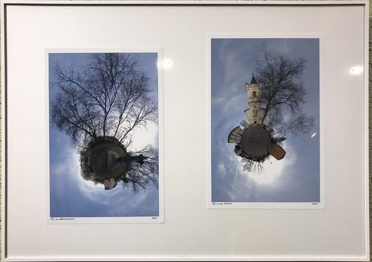 Fotoarbeiten von Schülern des Walter-Gropius-Gymnasiums mit einer Round-Shot-Kamera fotografiert